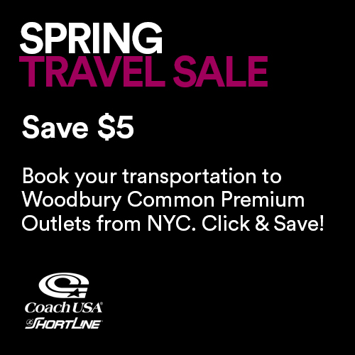 Spring Travel Sale Save $5
